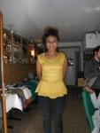 Mer buys the Amarelo blouse inParis!